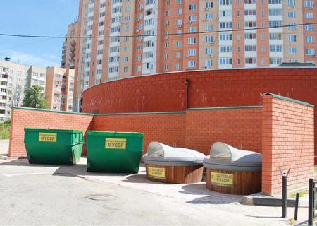 Заглубленные контейнеры «ECOBIN 5000» и бункер для КГМ (8 м3)